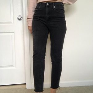 Levi's skinny mile high jeans